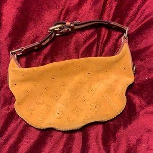 Louis Vuitton Onatah Yellow suede hand bag
